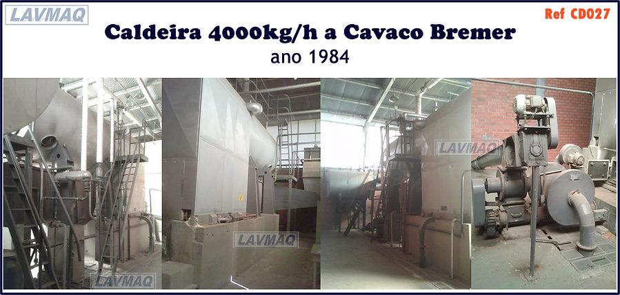ref CD027 caldeira 4000kg a cavaco Bremer
