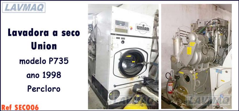 Lavadora a seco usada 15kg Union percloro para lavanderia industrial