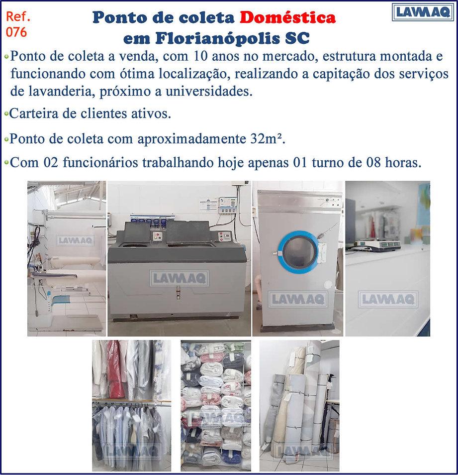 ref 076 Ponto de Coleta domestica em Florianópolis