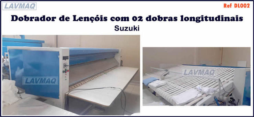 Dobrador de lençóis Suzuki para lavanderia industrial