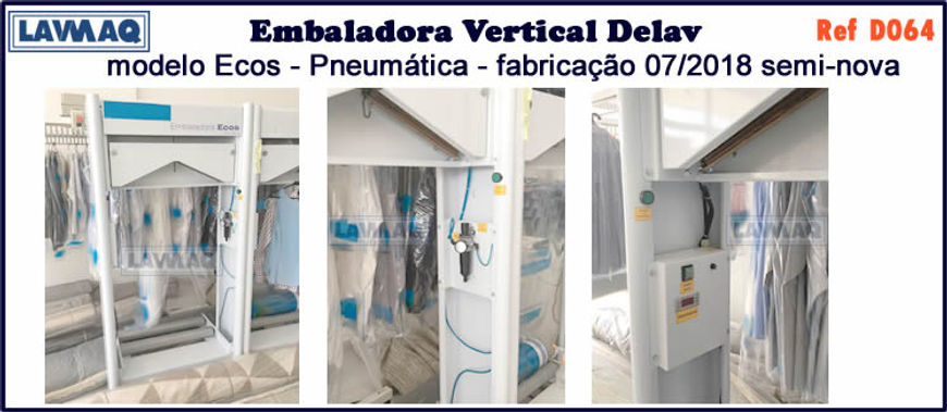 ref D064 embaladora vertical Ecos Delav pneumatica