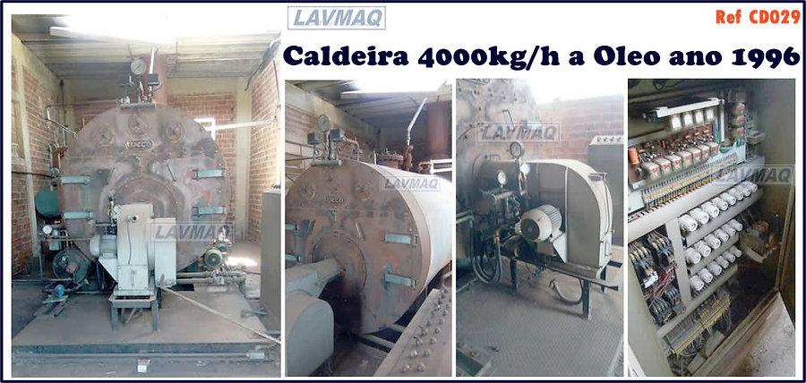 Caldeira usada 4000kg por hora a oleo para lavanderia industrial LAVMAQ