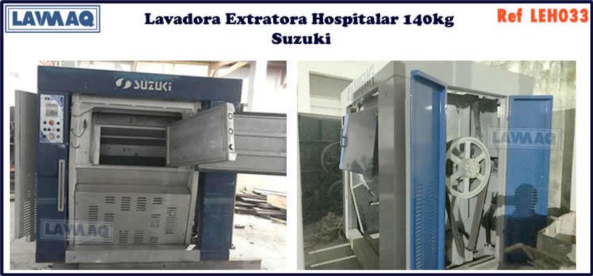 ref LEH033 lavadora extratora hospitalar usada 140kg para lavanderia industrial