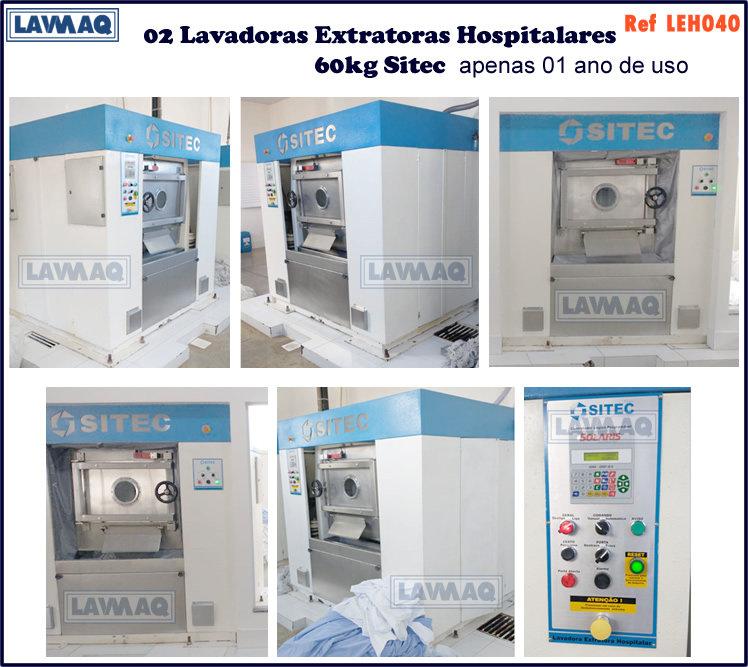 ref LEH040 lavadora extratora hospitalar
