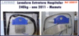 ref LEH019 lavadora extratora 240kg ano