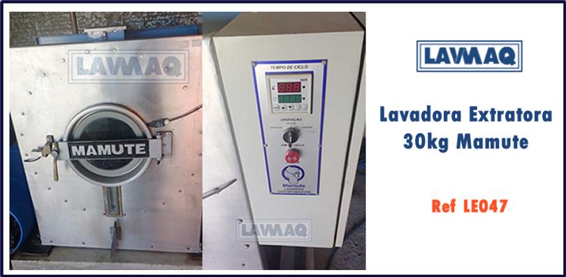 ref LE047 lavadora extratora 30kg Mamute