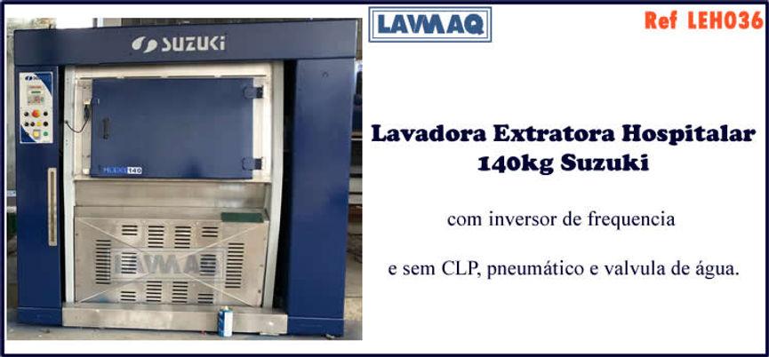 ref LEH036 lavadora extratora hospitalar usada 140kg para lavanderia industrial