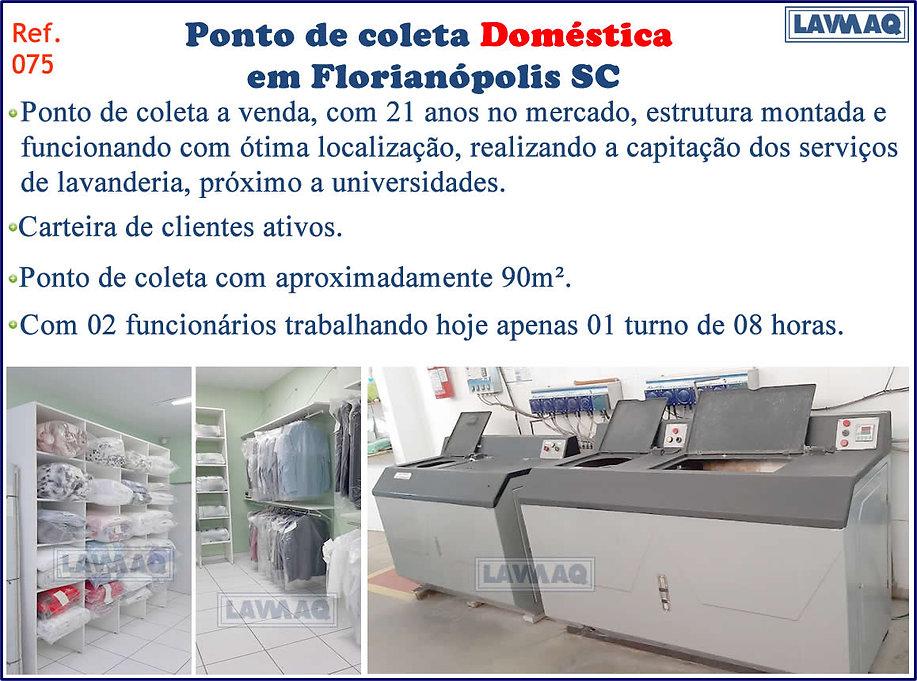 ref 075 Ponto de Coleta domestica em Florianópolis