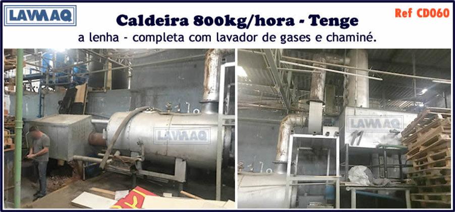 ref CD060 Caldeira usada de 800kg h a lenha