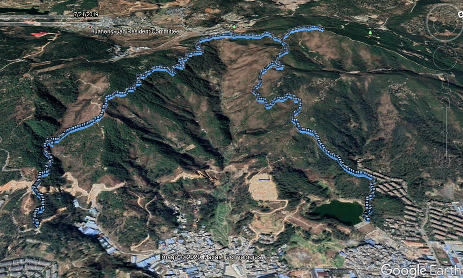 Zhaozong Reservoir Google Earth.PNG