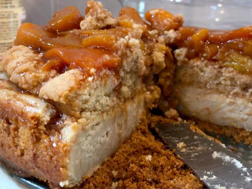 The Best Vegan Peach Cobbler Cheesecake