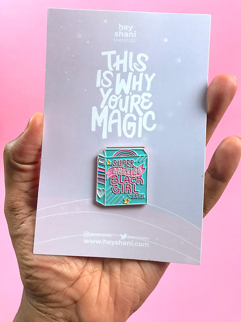 Black Girl Cereal Enamel Pin | This Is Why You're Magic
