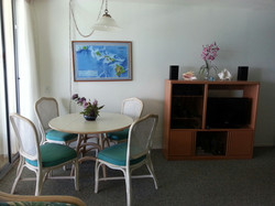 Dining Table and TV Before