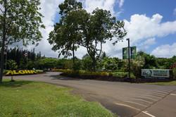 Entrance on Kuhio Hwy North