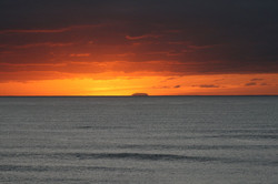 Oahu in the Distance at Sunrise