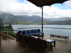 Patio Overlooks Hanalei Bay