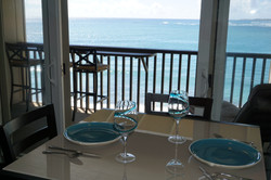 Dining Table has Ocean View