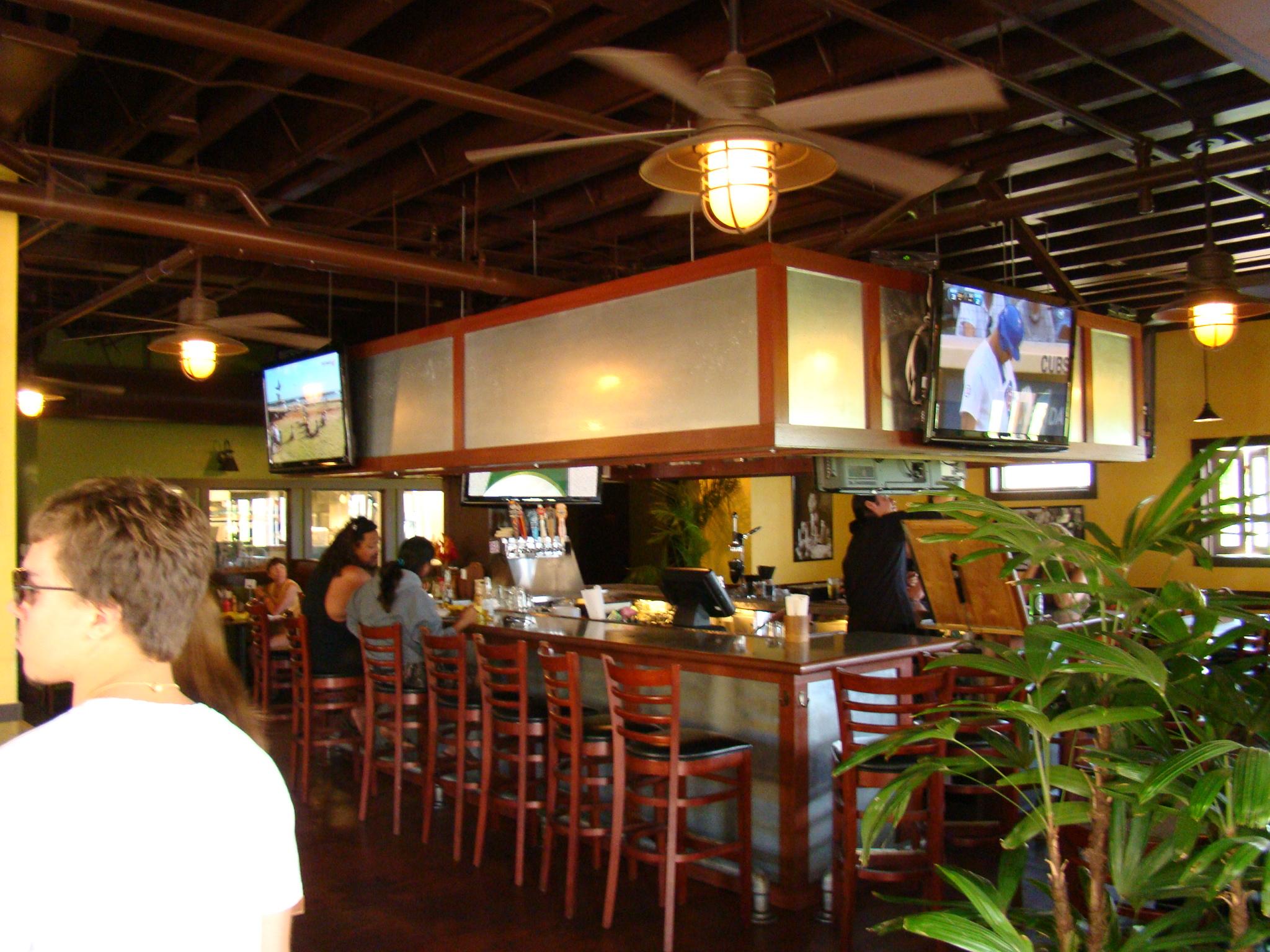 Bar with TVs