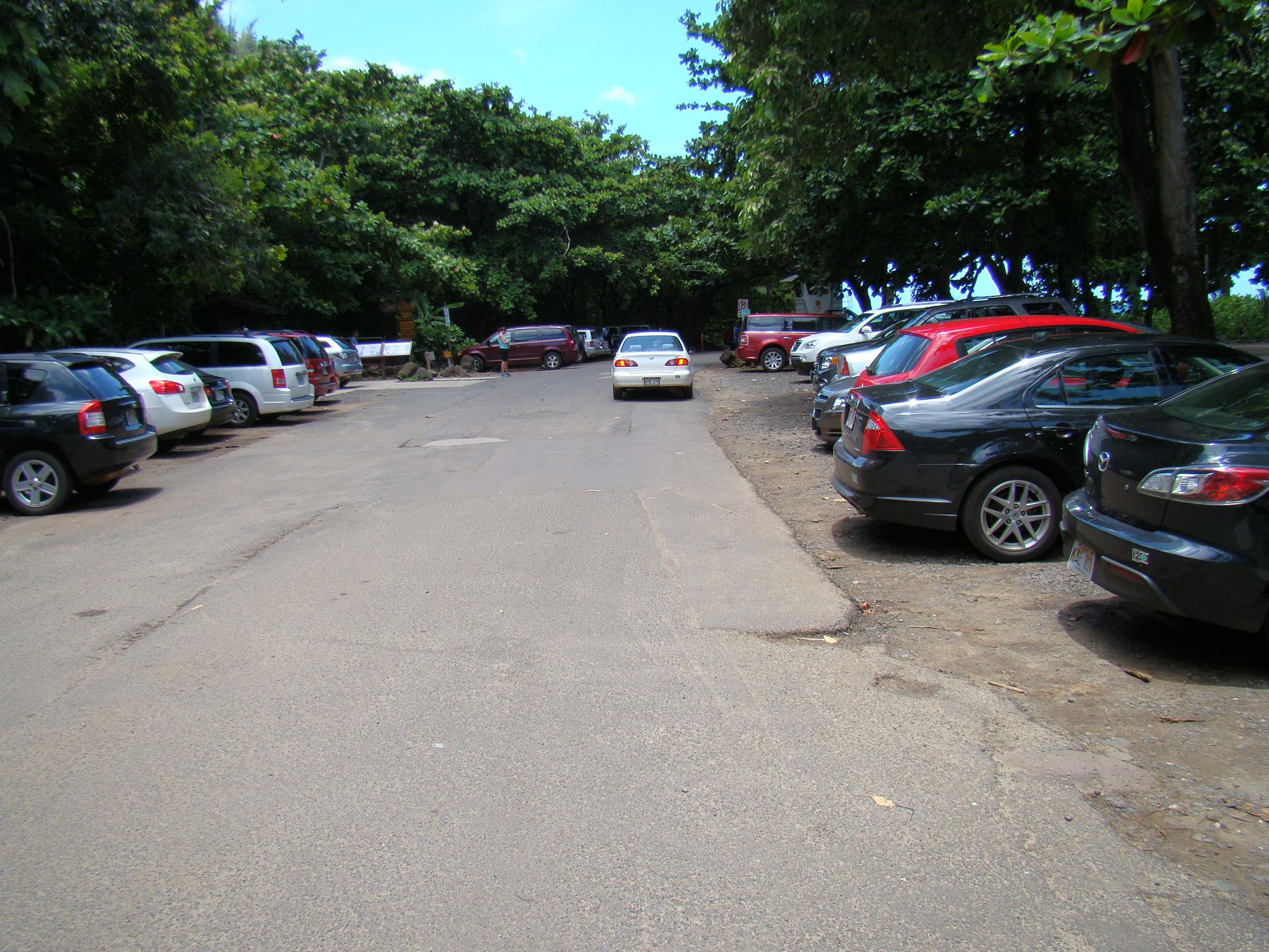 Ke'e Beach Parking Lot