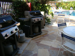 Barbecue Grills in Pool Area