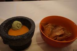 Homemade Sweet Potato Chips and Edamame Dip