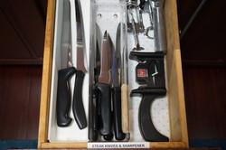 Knives and Sharpener