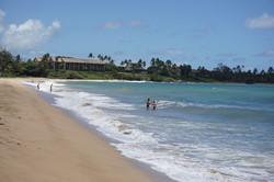Wailua Beach with Condo in Distance