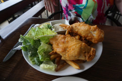 Fish and Chips with Fresh Ono