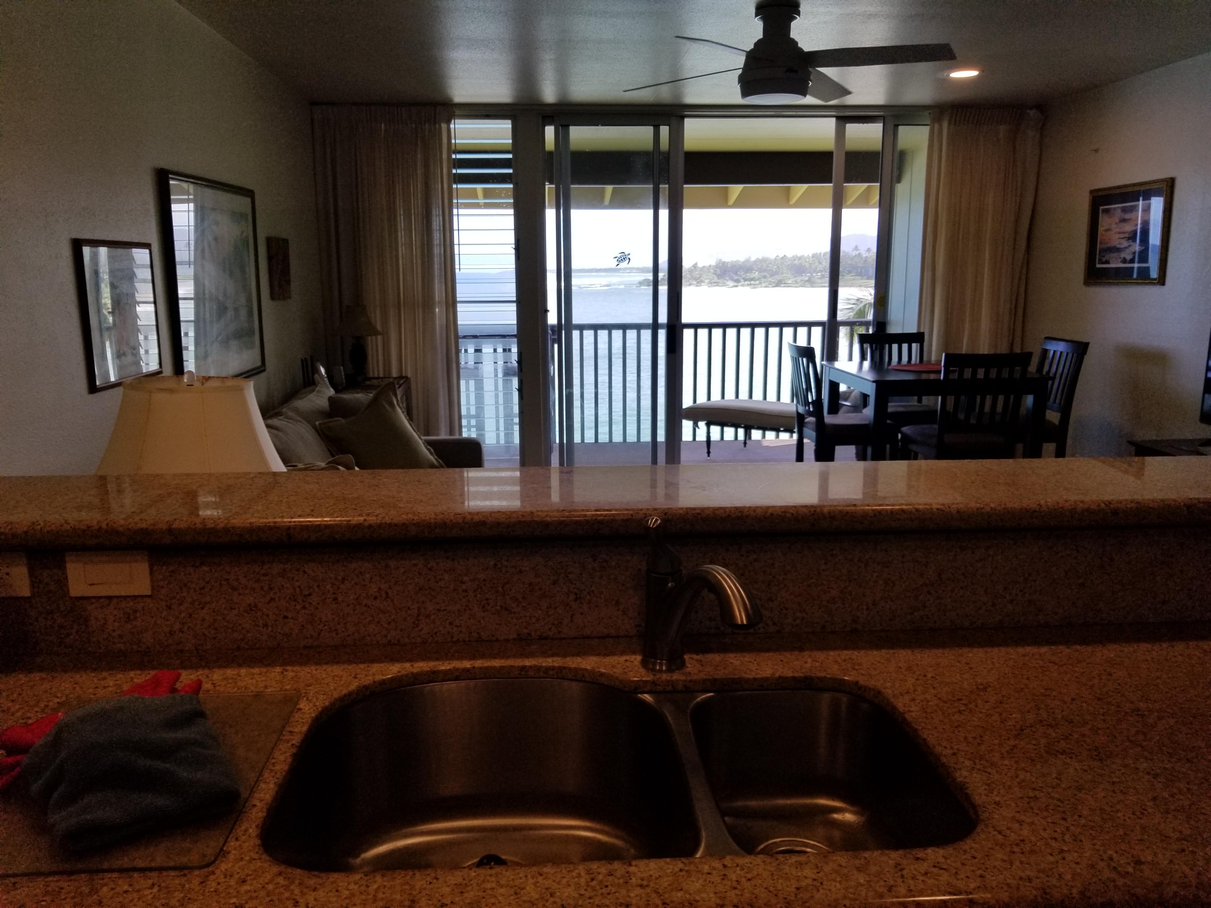 Ocean View from Kitchen Sink