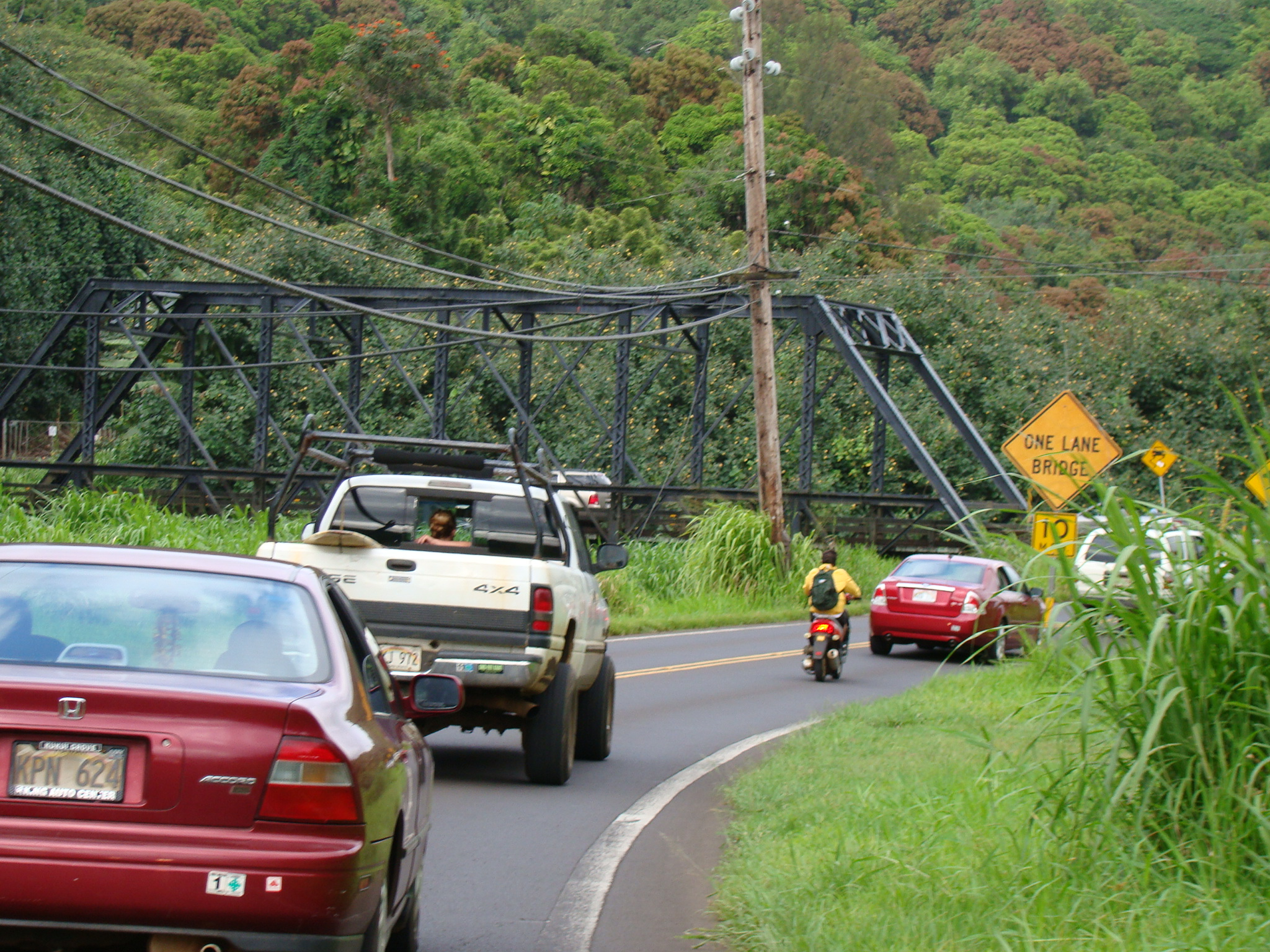 One Lane Bridge Leaving Hanalei