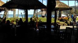 Tables overlook Nawiliwili Bay