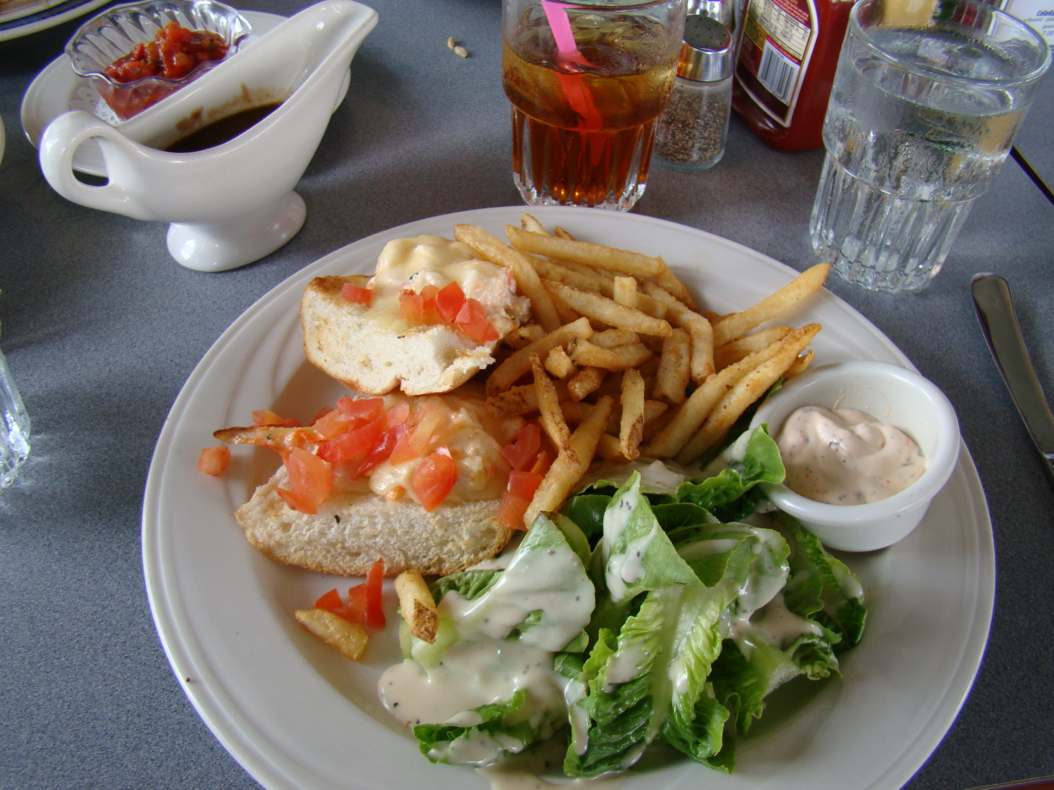 Crab Melt and Salad