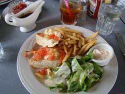 Crab Melt and Salad