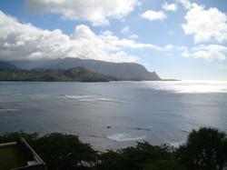 Looking West toward Na Pali Coast