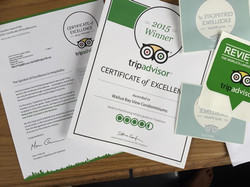 Trip Advisor WBV Certificate of Excellence 2015