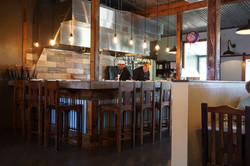 Seating around Chef's Kitchen