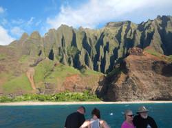 Na Pali Coastline from Sunset Cruise
