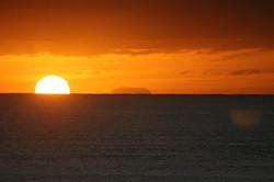 View of Oahu at Sunrise