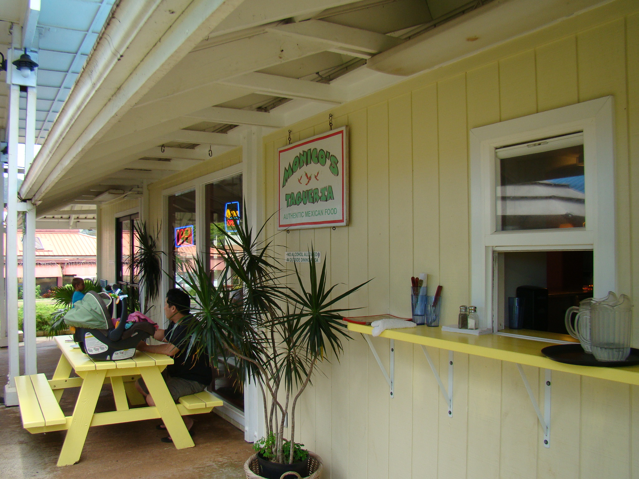 Patio and Take-Out Window