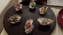 Miyagi Oysters with Passion Fruit