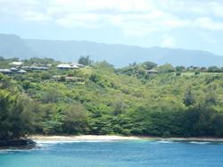 Kalihiwai Beach in Distance