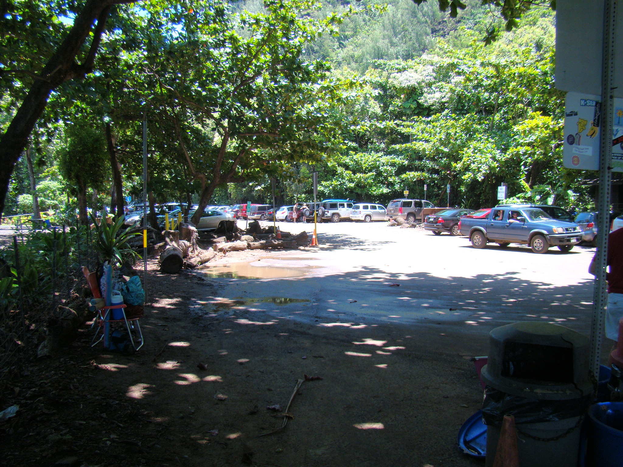 Ke'e Beach Parking Drop Off Area