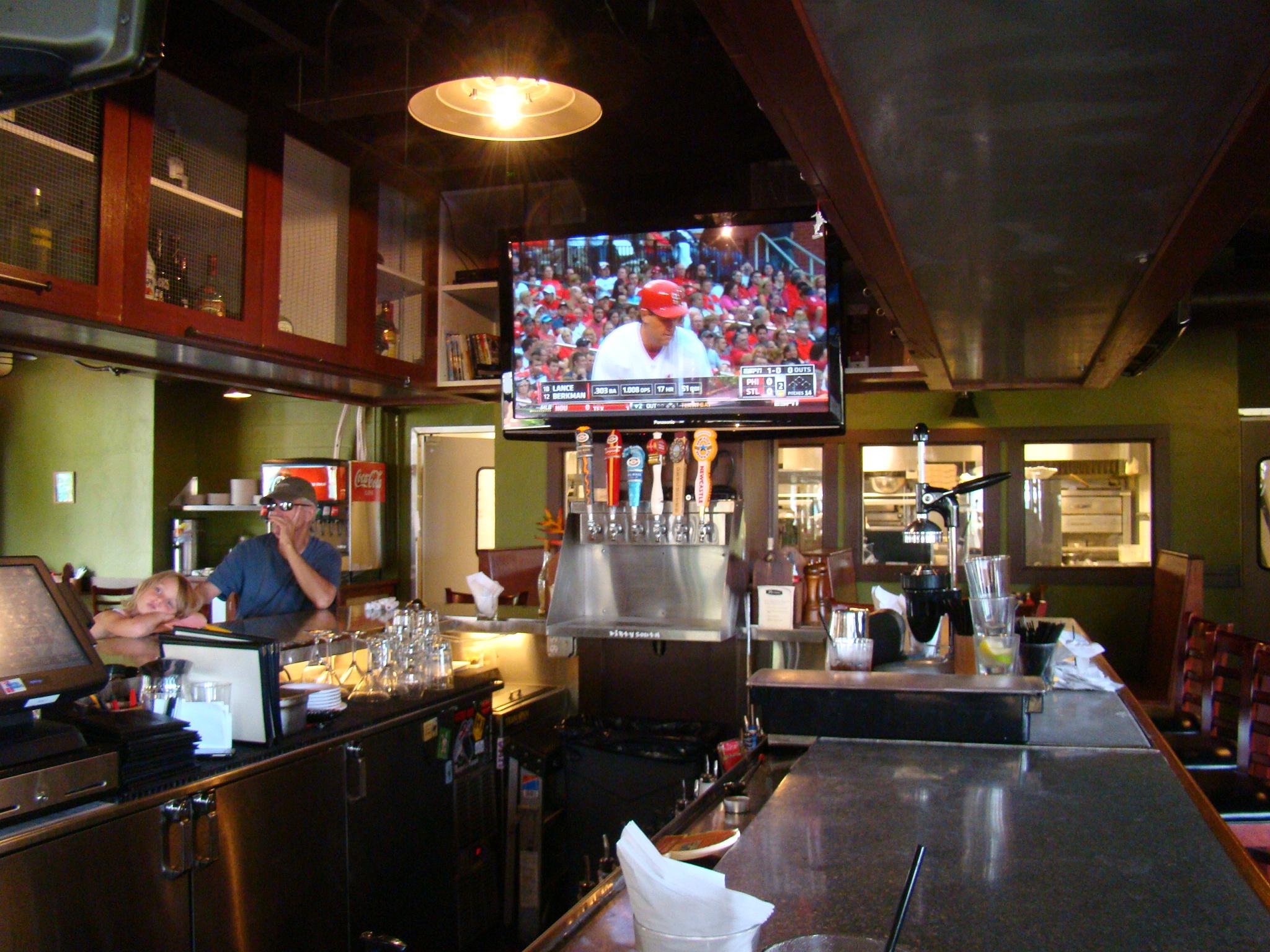 TV inside Bar