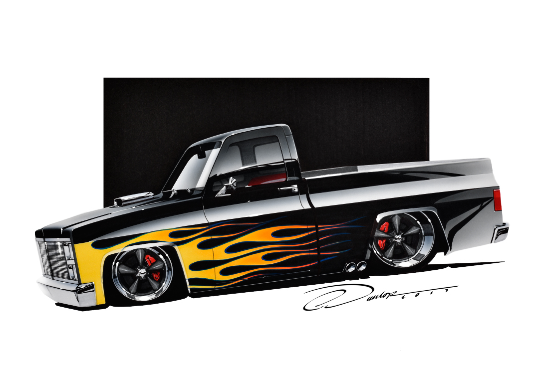 Flamed Square Body Street Rod