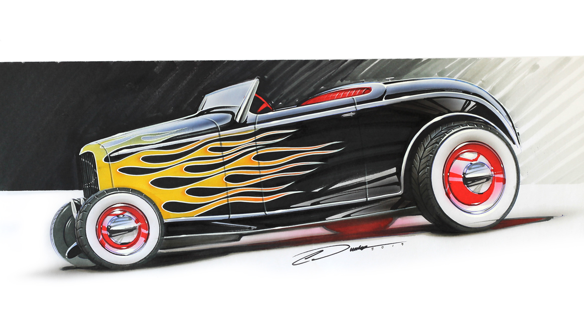 Flamed 32 Ford Roadster
