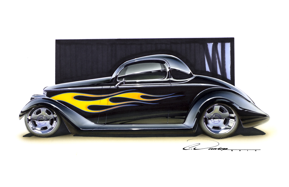 Flamed 35 Ford
