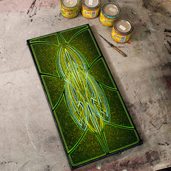 Green & Teal Pins