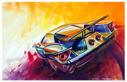 Technicolor Ford GT