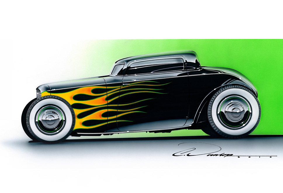 Flamed Coupe