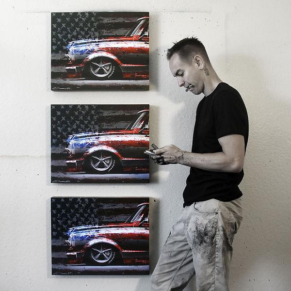 Automotive Artwork by Chris Dunlop, Pinstripe Chris